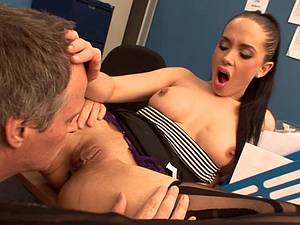 Naughty girls banging in the office