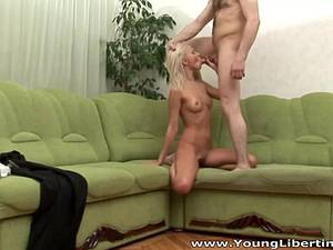 Adorable blonde gets dick in all of her holes