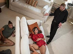 Sexy Ava Addams banged by her stepson