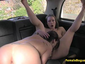 Penniless passenger pays in kind to a British lesbian cabbie