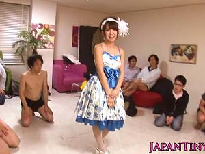 Charming Mayu Nozomi sucks him off and gets glazed