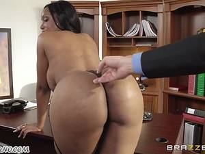 My new ebony assistant Codi Bryant with big natural boobs