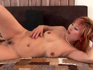 Chubby Asian punk begging for cream