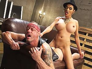 Transsexual domination. Cool guy was ambushed