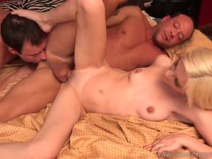 Cuckold watches as his wife has sex with her lover. He wants too