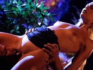 Cecilia Scott in a sensual scene with a hunky stud