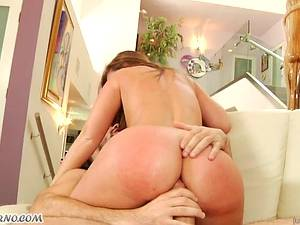 Teen red-haired girl Maddy O'Reilly gets punished by her stepfather