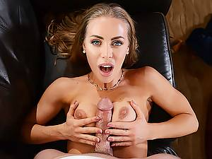 Amazing horny pornstar Nicole Aniston came to my house and fucks my hard cock