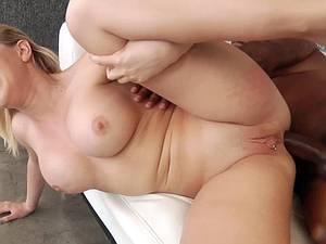 Hot blonde whore anal fucking BBC