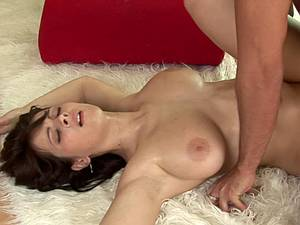Kristi Klenot fucks him to climax with her big lubed jugs