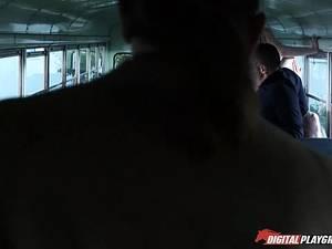 School adventures. Part 8 Orgy in school bus and happy ending