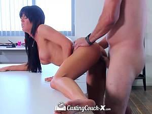 Brunette Rahyndee James sex casting