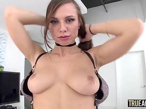 Beautiful Aidra Fox enjoys a big cock in her butt